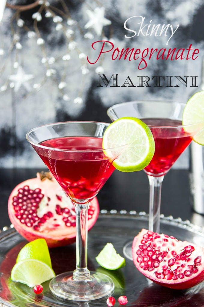 Skinny Pomegranate Martini | Simple Healthy Kitchen