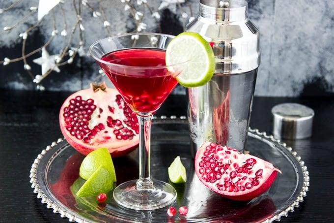 Skinny Pomegranate Martini