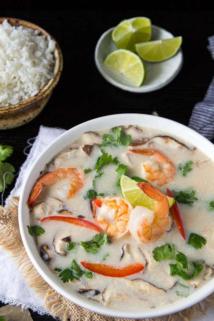Tom Kha Soup | One Pot Thai Coconut Soup with Shrimp