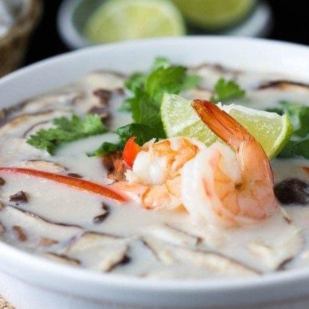 Tom Kha Soup with Shrimp