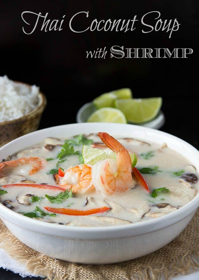Thai Coconut Soup with Shrimp | One Pot Tom Kha Soup
