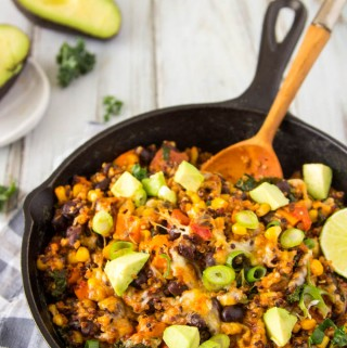 Black Bean Enchilada Quinoa