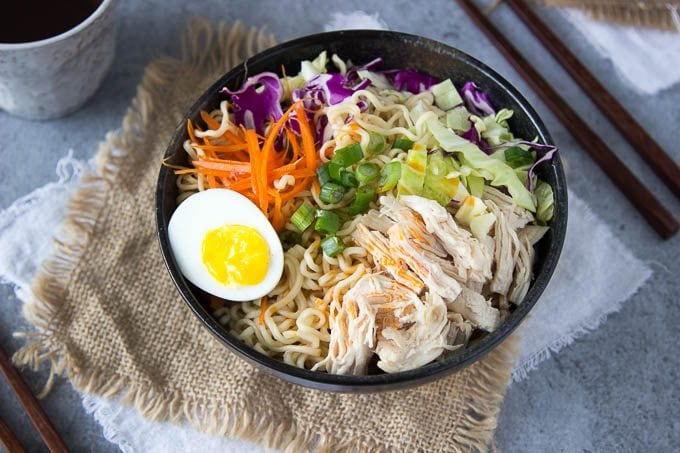 One Pot Healthy Chicken Ramen Bowl