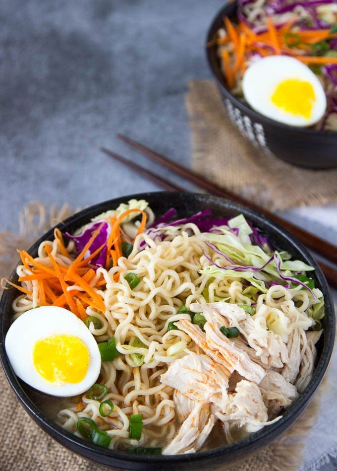 Clean Eating Healthy Chicken Ramen Bowl