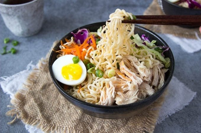Healthy Chicken Ramen Bowl