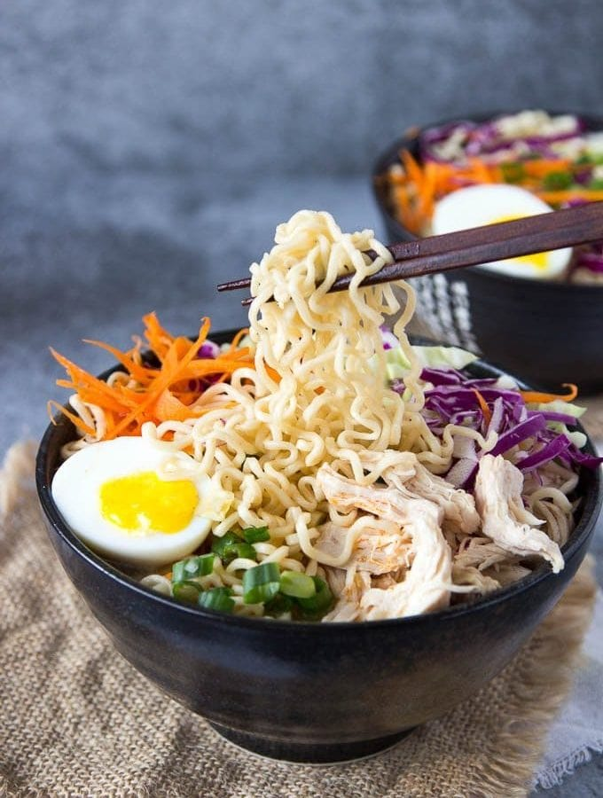 Healthy Chicken Ramen Bowls