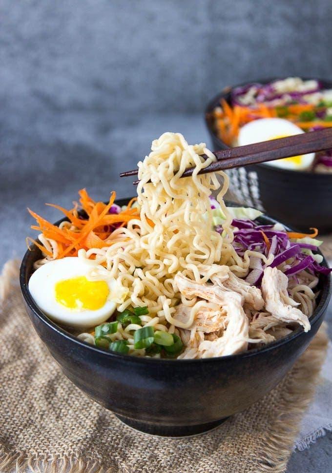 Healthy Chicken Ramen Bowl Clean Eating Simple Healthy Kitchen
