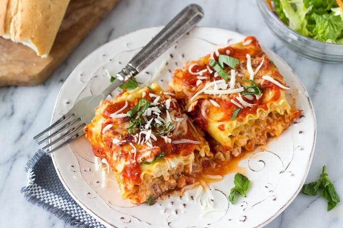 Spinach and Artichoke Lasagna Roll-Ups