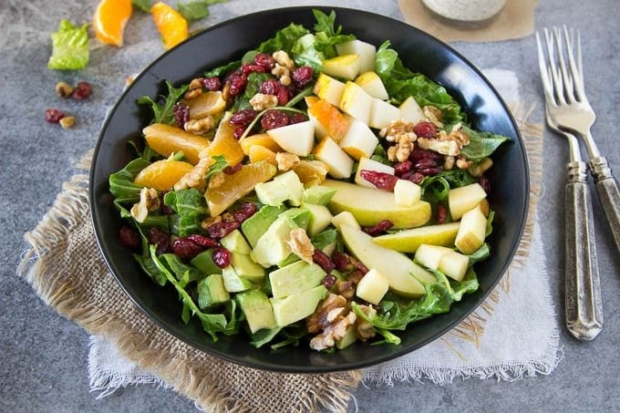 Winter Chopped Salad + Mandarin Poppy Seed Dressing