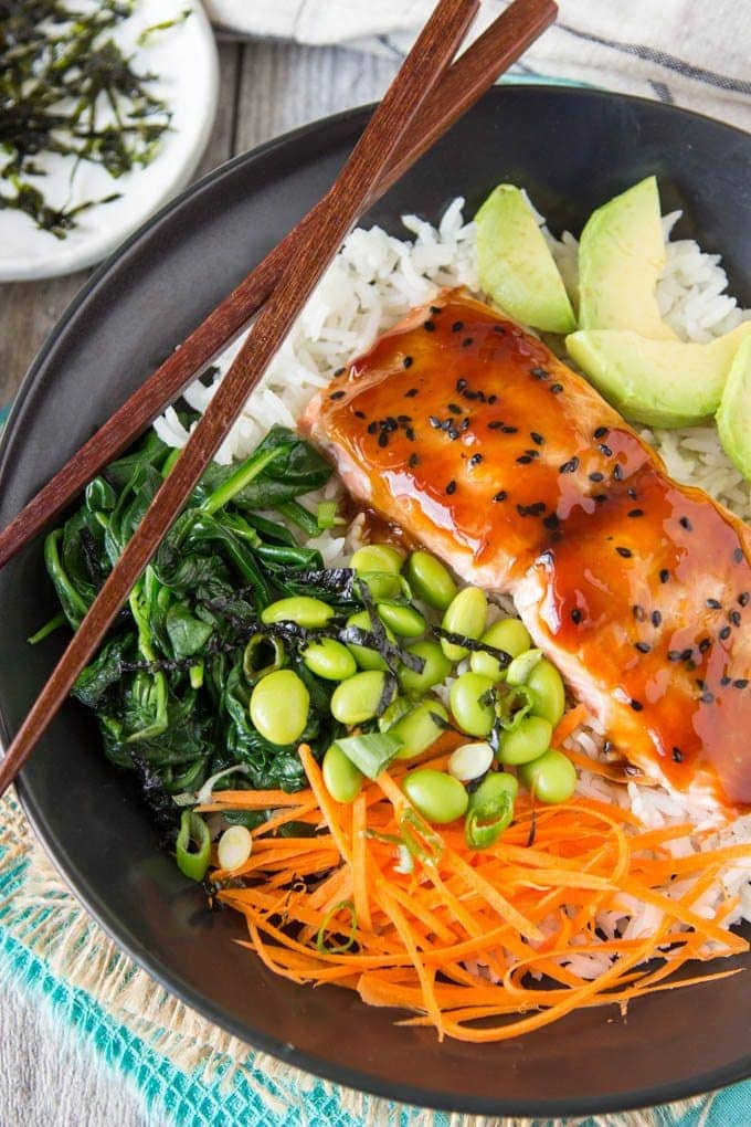 f225038e55d3 Teriyaki Salmon Bowl - Simple Healthy Kitchen