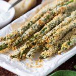 Asparagus Fries + Creamy Parmesan Dipping Sauce