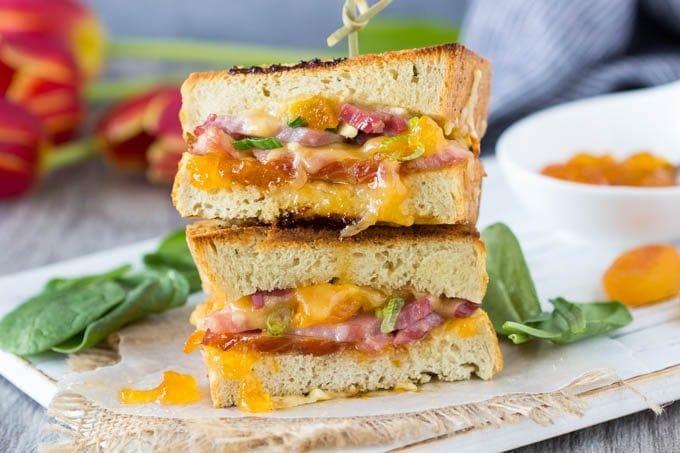 smoked-gouda-ham-apricot-panini featured