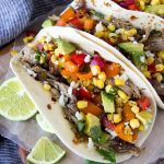 Slow Cooker Carnitas Tacos + Corn Salsa