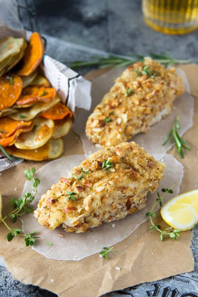 Oven Baked Fish and Chips # Healthy