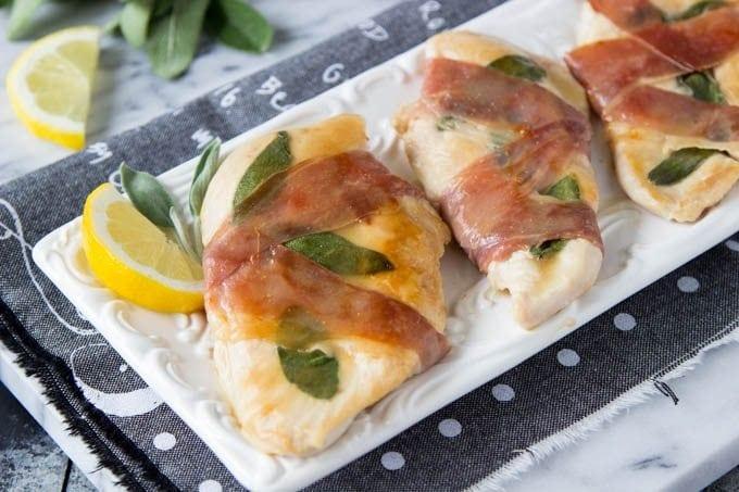 Lemon Chicken Saltimbocca - Simple Healthy Kitchen
