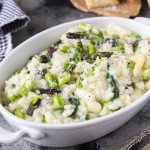 tri color asparagus risotto featured