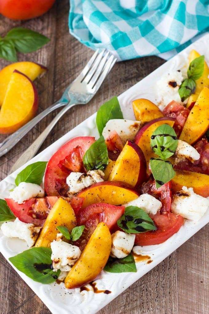 Fresh Peach Caprese Salad