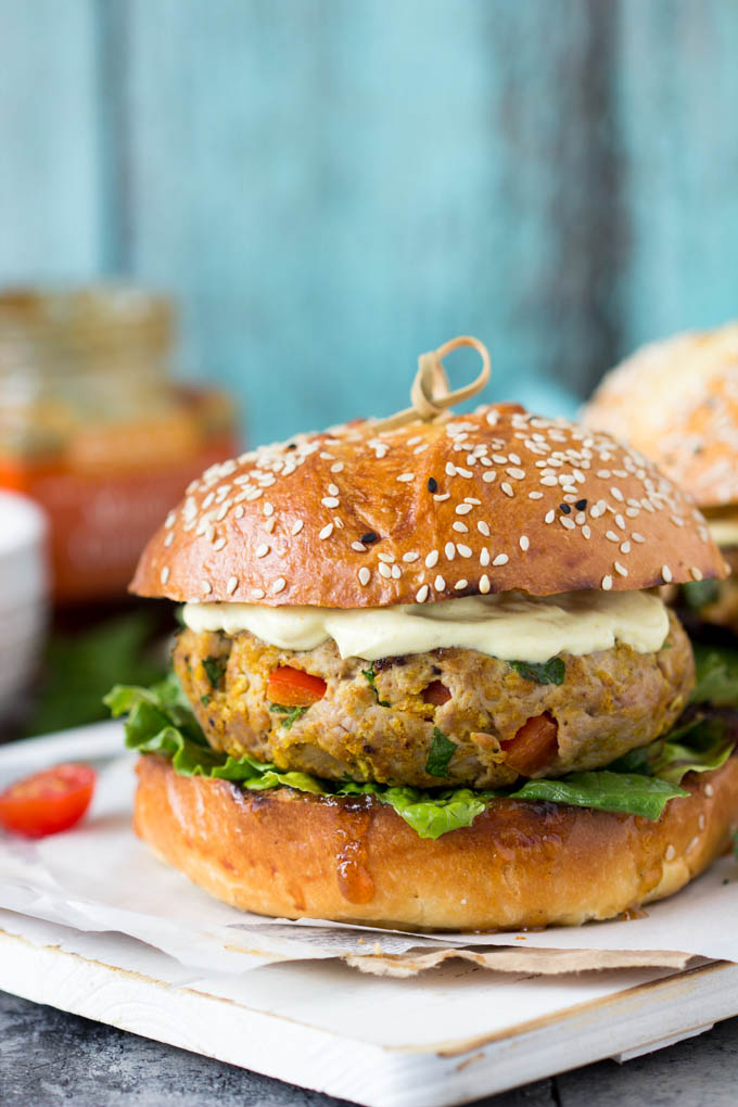 Indian Curry Turkey BurgersSimple Healthy Kitchen