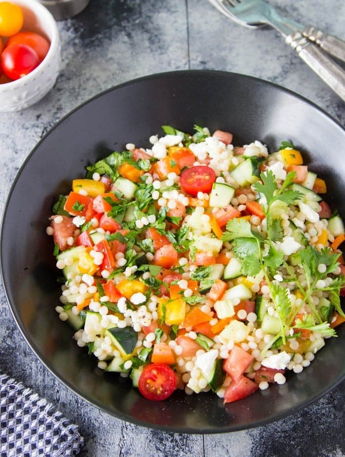 Chopped Israeli Couscous Salad Simple Healthy Kitchen