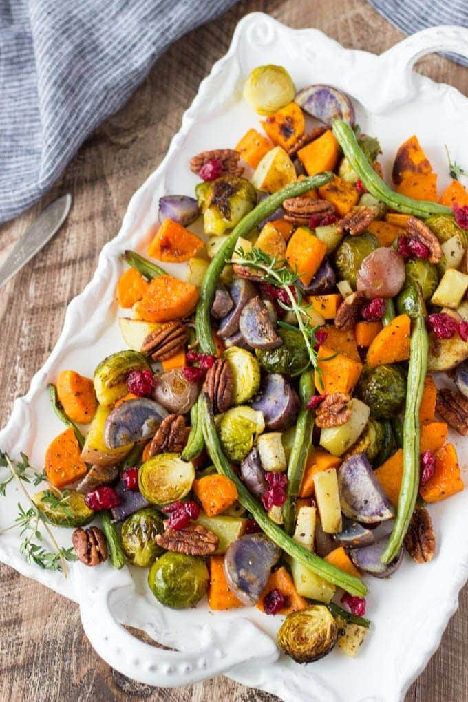 Super Easy Roasted Winter Vegetables