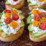 Avocado Toast + Herbed Ricotta & Fresh Tomatoes