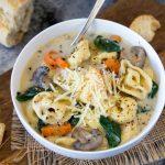 Creamy Cheese Tortellini + Mushroom Soup