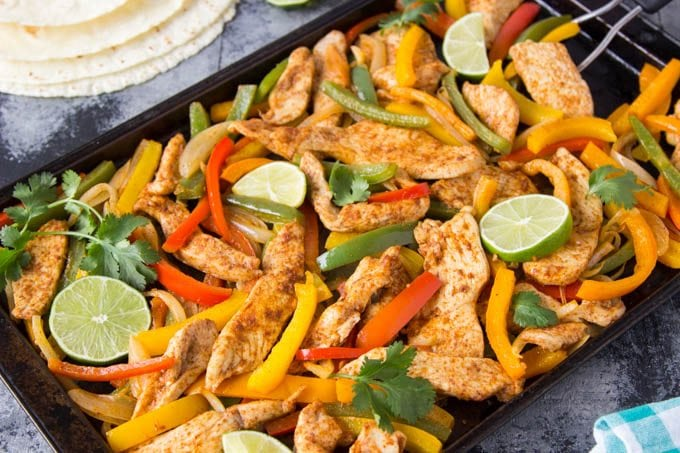 Sheet Pan Chicken Fajitas - Simple Healthy Kitchen