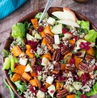 Fall Power Bowl with Sweet Potatoes + Quinoa
