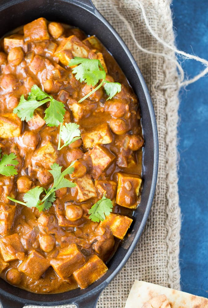 Crockpot Indian Butter Chickpeas
