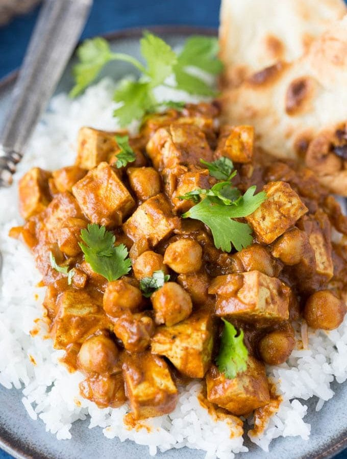 Crokpot Indian Butter Chickpeas
