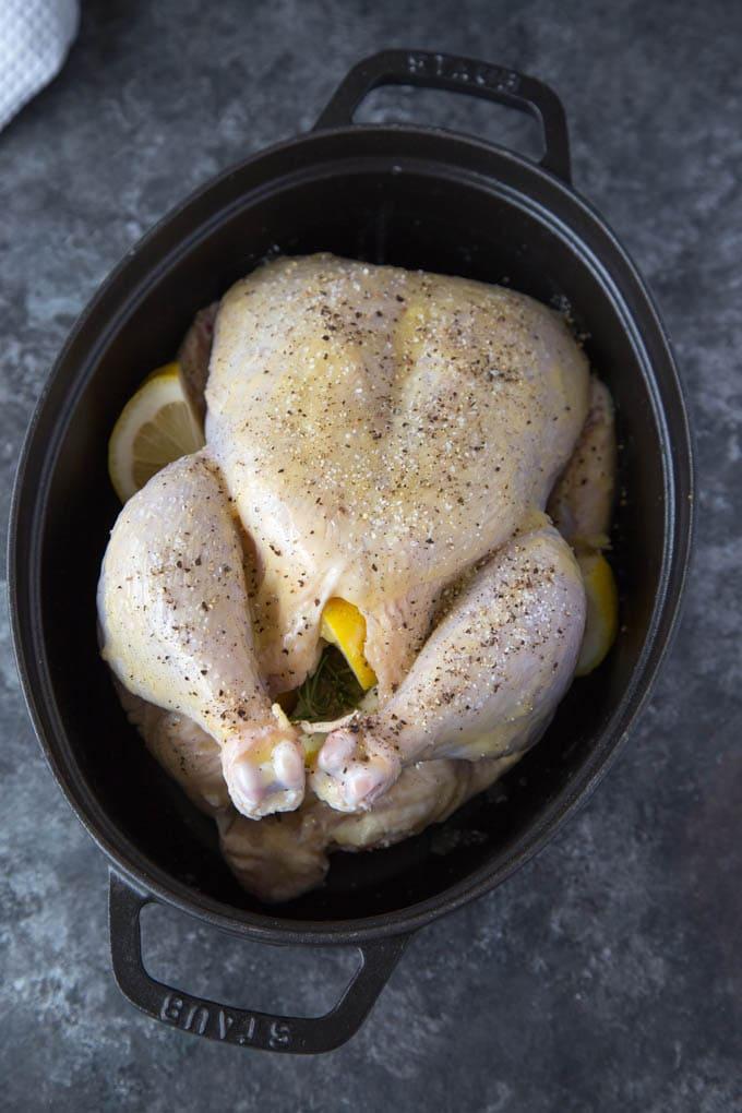 Roasted Chicken with Lemon, Garlic & Rosemary
