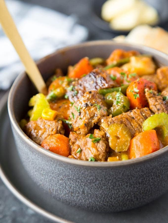 Crockpot Beef Stew # Healthy # stove-top