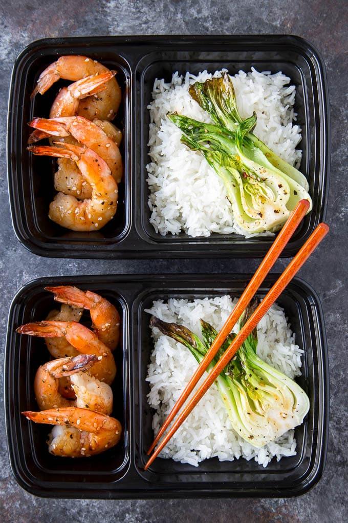 Sheetpan Terriyaki Shrimp + Sesame Bok Choy 3
