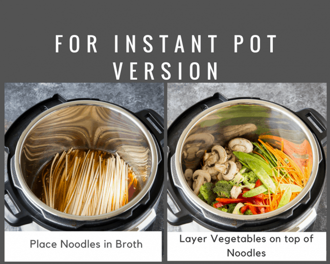 Quick & Easy  Lo Mein Recipe {Instant Pot or Stovetop} 15 minute meal