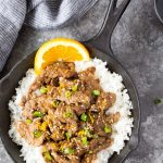 Skillet Orange Beef {20 Minute Meal}