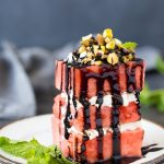 Watermelon + Feta Stack ( with balsamic & mint)